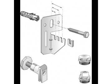 Комплект для крепления стальных панельных радиаторов с заглушкой и воздухоотводчиком VOGEL&NOOT для радиаторов типа K (боковое подключение) длиной не более 1600м