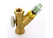 """Клапан балансировочный ручной ВВ WattFlow OL укороченный с любым монтажным положением c расходомером 1/2"""" 1-8л/мин"""