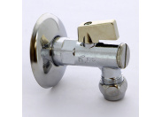 """Кран угловой с фильтром, розеткой и соединителем для медной трубки хромированный ITAP 10х1/2"""""""