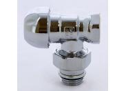 """Вентиль НВ угловой для радиаторов термостатический хромированный с разъемным соединением TIEMME 1/2"""""""