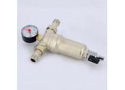 """Фильтр промывной с манометром, с разъемными соединениями, латунной колбой TIEMME 1/2"""""""