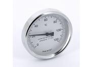 Термометр биметаллический 80мм с погружной гильзой EMMETI 120 град.C гильза 50мм