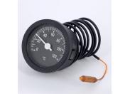Термометр биметаллический дистанционный 52мм с капилярной трубкой 1000мм EMMETI 80 град.C