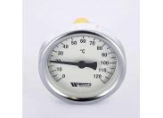 Термометр биметаллический самоуплотняющийся F+R801SD 63мм с погружной гильзой WATTS Ind 120 град.C гильза 50мм