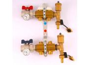 """Коллекторная группа с термостатическими вентилями и расходомерами TIEMME 1""""x3/4""""ЕК 2 выхода"""