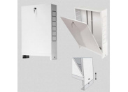 Шкаф коллекторный металлический накладной UNI-FITT 998х651-691х125
