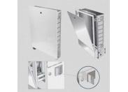 Шкаф коллекторный металлический встраиваемый UNI-FITT 1040х670-760х125-195