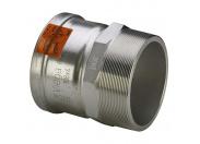 Муфта пресс-Н нержавеющая сталь Sanpress Inox XL со стопорным кольцом VIEGA 76х2'1/2