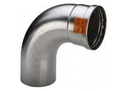 Угол-вставка пресс 45 град. нержавеющая сталь Sanpress Inox VIEGA 76