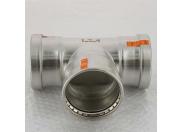 Тройник пресс нержавеющая сталь Sanpress Inox VIEGA 88.9