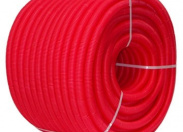 Гофра красная UNI-FITT 32 для труб 20-26 бухта 50 м