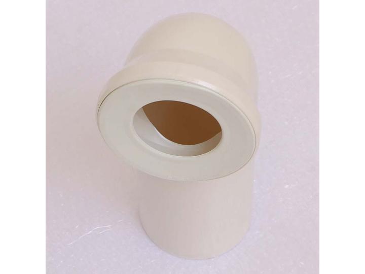 Отвод для унитаза белый с манжетным уплотнением VIEGA 90 град.