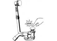Слив-перелив Multiplex для стандартных ванн VIEGA 40/50 сливное колено 45° click-clack