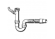 Сифон трубный для моек с универсальным отводом VIEGA 40/50мм