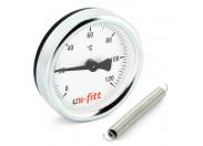 Термометр накладной UNI-FITT 63мм с пружиной