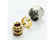 """Соединитель обжим-В никелированный евроконус для металлопластиковой трубы TIEMME 16(2,0)х1/2"""""""