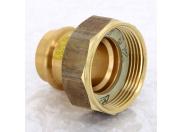 Муфта пресс-В с накидной гайкой плоская прокладка бронза Profipress G VIEGA 28х1'1/2