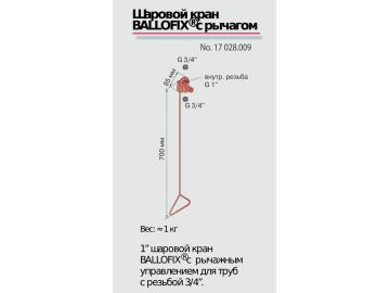 Рычажный механизм с BALLOFIX, рычаг Broen