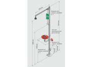 Душ аварийный стационарный для тела с фонтаном для глаз и раковиной в промышл. исполнении Broen
