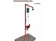Душ аварийный стационарный для тела с душем для глаз и раковиной, Broen Lab 17 956.009 Broen