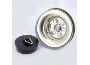 Выпуск из нержавеющей стали полированный с пробкой VIEGA 60 мм