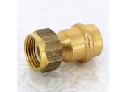 Муфта пресс-В с накидной гайкой плоская прокладка бронза Profipress G VIEGA 18х1/2