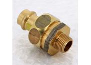 Муфта разъемная пресс-Н плоская прокладка бронза Profipress G VIEGA 18x1/2'