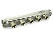 Коллектор ВВ 1″ х 6 вых 3/4″EK нержавеющая сталь