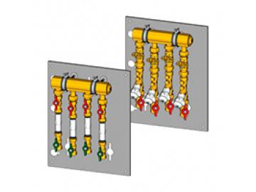 """Коллекторный модуль Giacomini этажный 1""""1/2 х 3/4"""" - 6 выходов (GE550Y181(уточнить))"""