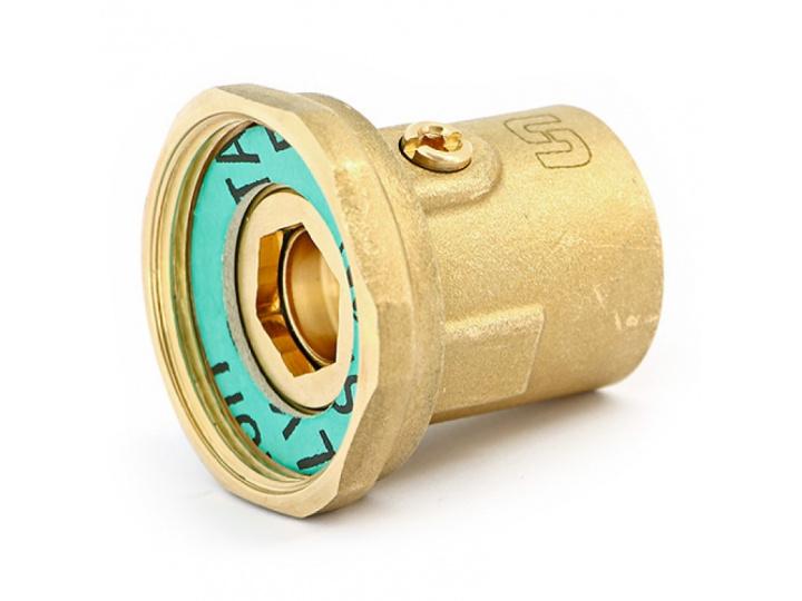 """Соединение с накидной гайкой ВВ Uni-Fitt 1 1/2"""" х 1"""" со встроенным шаровым краном"""