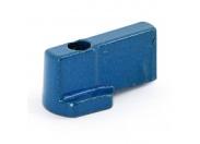 Ручка-флажок дла шарового крана мини Uni-Fitt синяя алюминий