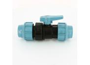 Кран шаровый компрессионный Unidelta 50x50 для труб ПНД полипропилен PP-B