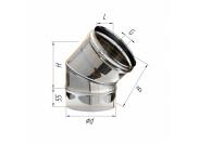 Сэндвич-колено 135' Ferrum Ф130х200 нержавеющая сталь (430/0,5мм)
