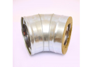 Сэндвич-колено 135' Ferrum Ф180х280 оцинкованная сталь (430/0,5мм)