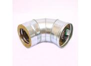 Сэндвич-колено 90' Ferrum Ф130х200 нержавеющая сталь (430/0,5мм)