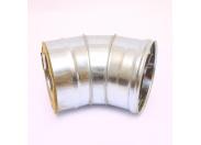 Сэндвич-колено 135' Ferrum Ф130х200 оцинкованная сталь (430/0,5мм)