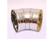 Сэндвич-колено 135' Ferrum Ф160х250 нержавеющая сталь (430/0,5мм)