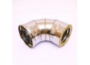 Сэндвич-колено 90' Ferrum Ф130х200 оцинкованная сталь (430/0,5мм)