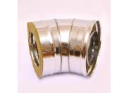 Сэндвич-колено 135' Ferrum Ф180х280 нержавеющая сталь (430/0,5мм)