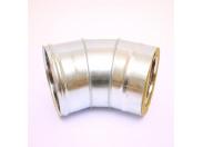 Сэндвич-колено 135' Ferrum Ф150х210 оцинкованная сталь (430/0,5мм)