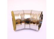 Сэндвич-колено 135' Ferrum Ф150х210 нержавеющая сталь (430/0,5мм)
