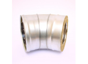 Сэндвич-колено 135' Ferrum Ф160х250 оцинкованная сталь (430/0,5мм)