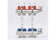 """Коллекторная группа 1""""x3/4"""" 4 выхода с термостатическими вентилями и расходомерами UNI-FITT ЕК"""