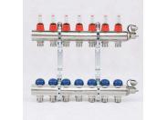 """Коллекторная группа с термостатическими вентилями и расходомерами UNI-FITT 1""""x3/4""""ЕК 7 выходов"""