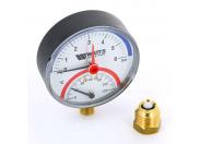Термоманометр радиальный F+R828 WATTS 6бар 120 град.C