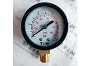 "Манометр радиальный 0-10 бар Ø50мм (класс точности 1,6, металлический корпус, присоед. латунь 1/4"") TIM"