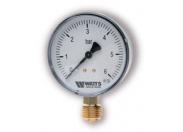 Манометр радиальный WATTS MDR 80/ 6 0- 6 бар RAD G 1/2 (F+R200)