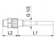 Инжекционный клапан PDF/FKM L=100 4/6-6/12-6/9-9/12 Grundfos