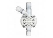 Головка PVDF с двойными шаровыми клапанами для насосов 1-15 л/ч, Керамика - Витон (Std) ETATRON