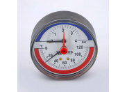Термоманометр аксиальный F+R818 WATTS 4бар 120 град.C